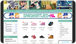Screenshot Sneakertjes.nl